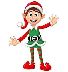 happy Christmas elf for you design vector image