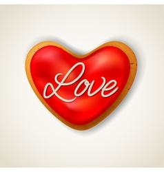 Happy valentines day heart cookie vector