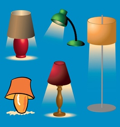 Lamps1 vector image