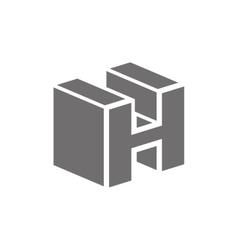 Letter H Logo Concept Icon vector image