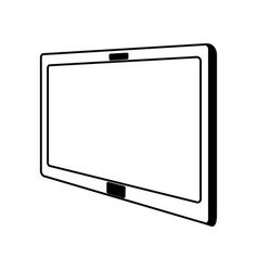 line icon tablet cartoon vector image