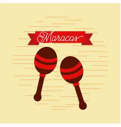maracas jazz instrument musical festival vector image