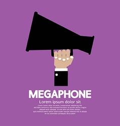 Megaphone In Hand vector image vector image