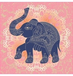 Original indian pattern with elephant for vector