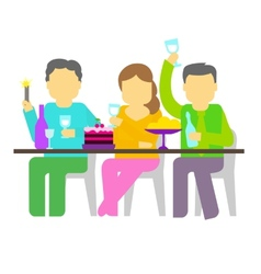 Party Three people vector image vector image