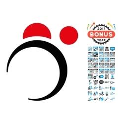 Planet system icon with 2017 year bonus symbols vector