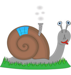 Snail with his home on the back vector