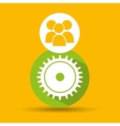 social media group teamwork design vector image