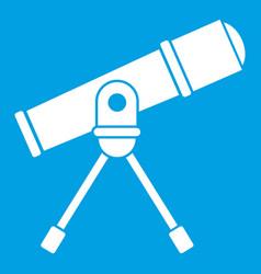 Space telescope icon white vector