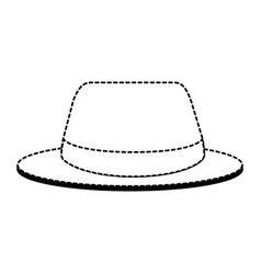 summer fashion hat icon vector image