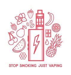 Taste of electronic cigarette vector