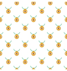 Third eye amulet pattern cartoon style vector