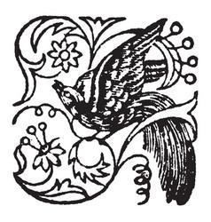 This doodad have bird vintage engraving vector