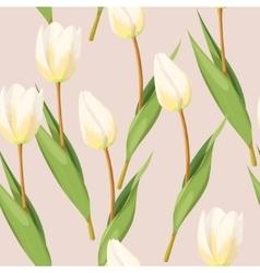 Vintage tulip seamless vector image