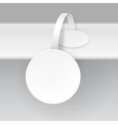 White Paper Plastic Advertising Price Wobbler vector image