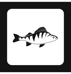 Perch fish icon simple style vector