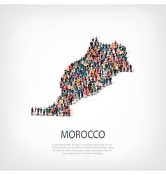 People map country morocco vector