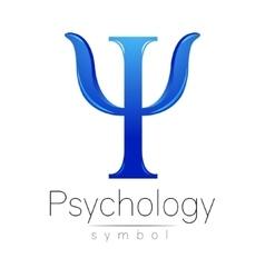 Modern logo of psychology psi creative style vector