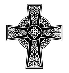 celtic knot in the cross with surrounding knot vector image