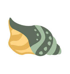 Grey and yellow mollusk shell part of vector