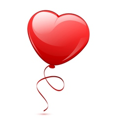 Red heart balloon vector