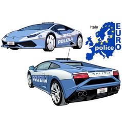 Italy police car vector