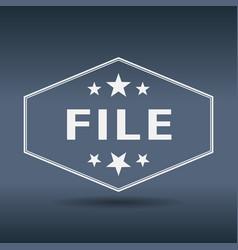 File hexagonal white vintage retro style label vector