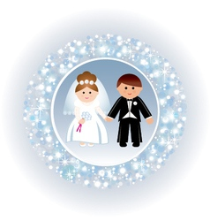 Greeting card with a wedding vector