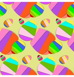 Striped easter eggs seamless pattern vector