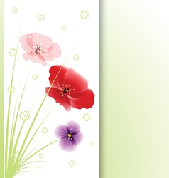 Bouquet of flowers on white background vector