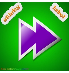 Multimedia control icon sign symbol chic colored vector