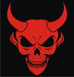 Red devils head vector