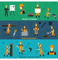Construction banners set vector