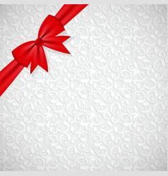 Gift Bow with Ribbon Background vector image