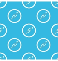 Gender sign blue pattern vector