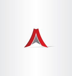 Red letter a arrow logo vector