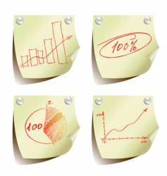 statistic charts vector image