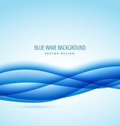 abstract blue wave design background vector image vector image