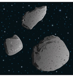 Asteroids in space vector image vector image