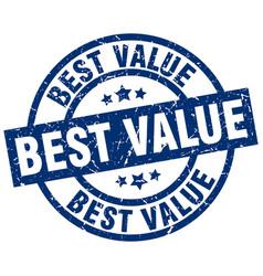 Best value blue round grunge stamp vector
