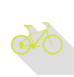Bicycle bike sign pear icon with flat style vector