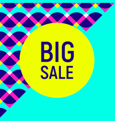 Big sale abstract background neon memphis style vector