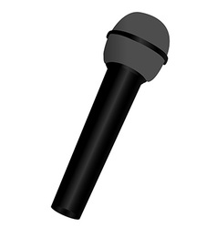 Black microphone vector image