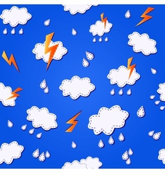 blue seamless pattern with clouds vector image vector image