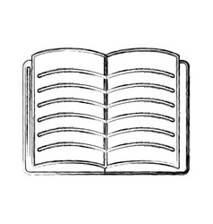 Contour school notebook open to study icon vector