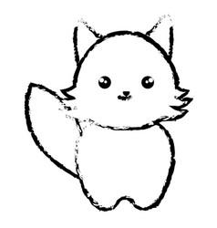 Cute and tender fox kawaii style vector