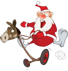Cute Santa Claus Golfer and Rodeo vector image vector image