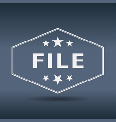 File hexagonal white vintage retro style label vector