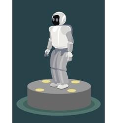 Futuristic design concept of a robot Cybernetic vector image