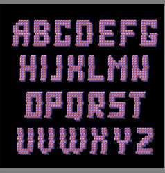 Glitched colored alphabet vector